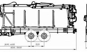 Сортиментовоз Камаз 43118-46 с манипулятором (59601E)