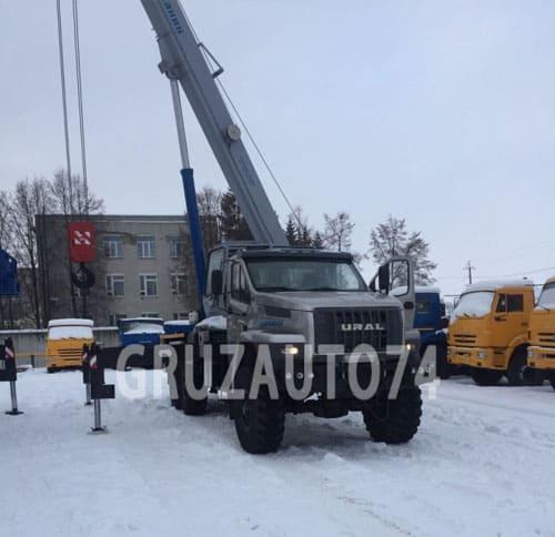 Автокран KC-55713-3В на Урал NEXT Галичанин стрела 28,0 м