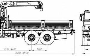 Бортовой автомобиль Камаз 43118 (43871E) с КМУ ИНМАН