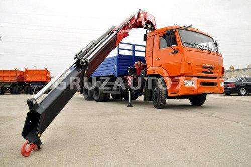 Бортовой автомобиль Камаз 65115 с КМУ Fassi