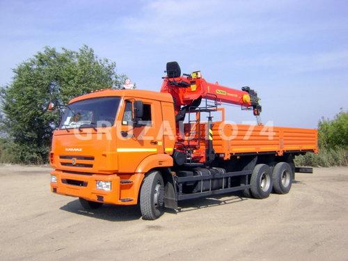 Бортовой автомобиль Камаз 65115 с КМУ ИНМАН