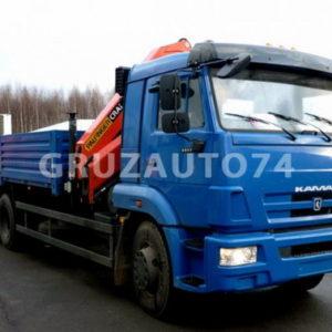 Бортовой автомобиль Камаз 65115 с КМУ Palfinger