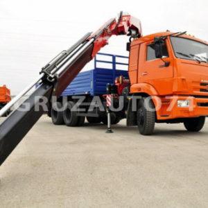 Бортовой автомобиль Камаз 65117 с КМУ Fassi