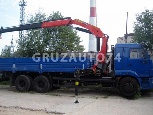 Бортовой автомобиль Камаз 65117 с КМУ Palfinger