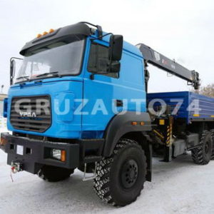 Бортовой автомобиль Урал 4320 (бескапотный) с КМУ HIAB