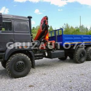 Бортовой автомобиль Урал 4320 (бескапотный) с КМУ Palfinger