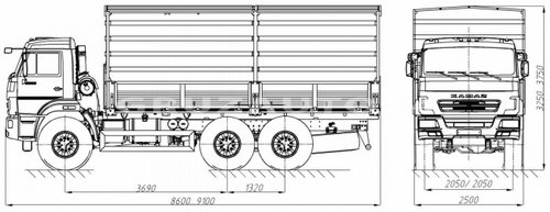 Бортовой автомобиль Камаз 43118 (43871D)