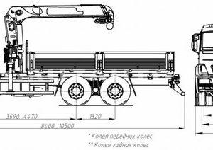 Бортовой автомобиль с КМУ Камаз 65115 (43871F)