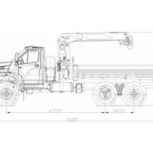 Бортовой автомобиль с КМУ Урал-NEXT (43874P)