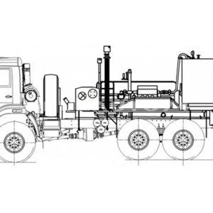 Цементировочный агрегат УНБ-125х32 (Камаз 43118)