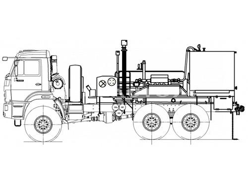 Цементировочный агрегат УНБ-160х32 (Камаз 43118)