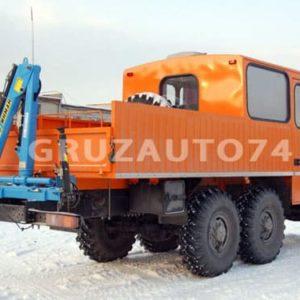 Грузопассажирский автомобиль Урал 4320 с КМУ Инман