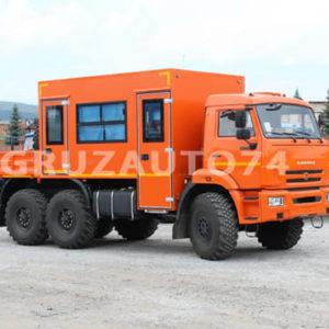 Грузопассажирский вахтовый автобус 12 мест на шасси КамАЗ 43118-3027-46