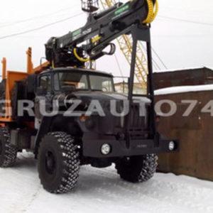 Лесовоз Урал 55571 с ГМ и прицепом роспуском