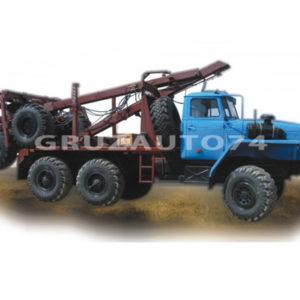 Лесовозный тягач Урал 55571-60/70/-72 (59602C) с самопогрузкой роспуска