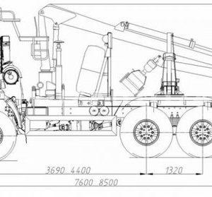 Лесовозный тягач Камаз 43118 (59601C) с гидроманипулятором