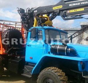 Лесовозный тягач УРАЛ 55571-60М с г/м ВЕЛМАШ VM10L