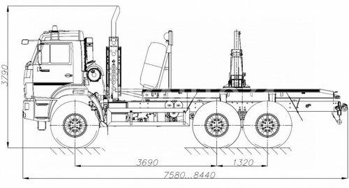 Лесовозный тягач Камаз 43118 (59601C)