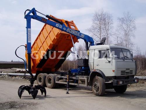 Металловоз с КМУ на базе КамАЗ 65115-19/-42