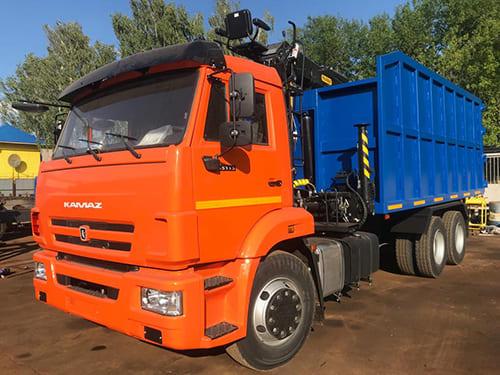 Металловоз с КМУ на базе КамАЗ 65115