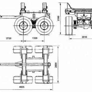 Прицеп-роспуск трубоплетевозный (9047T)