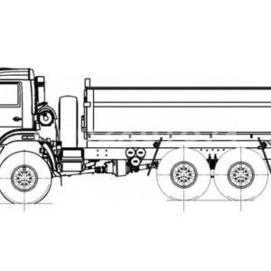 Самосвал Камаз 43118 с боковой разгрузкой (58311L)
