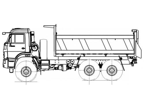 Самосвал Камаз 43118 с трехсторонней разгрузкой (58311K)