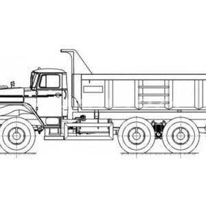 Самосвал Урал 55571-1121-60/-70/-72 с увеличенным кузовом (58312A)