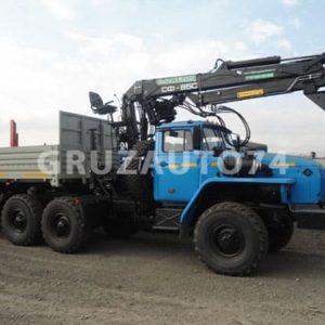 Седельный тягач Урал 4320 с кран-манипуляторной установкой