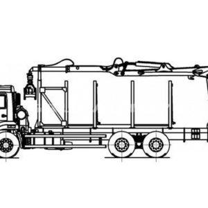 Сортиментовоз Камаз 65115 с манипулятором (59601F)