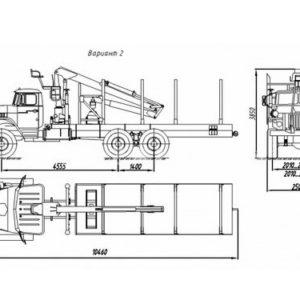 Сортиментовоз Урал 4320-1951-60/-70/-72 с манипулятором за кабиной (69022N)