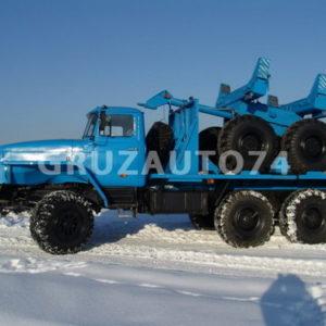 Трубоплетевозный автопоезд Урал 55571 (59602A, 9047T)