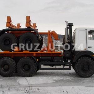 Трубоплетевозный автопоезд МАЗ 6317X5 (69023B, 904705)