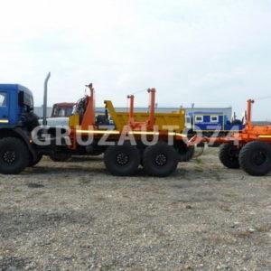 Трубовозный автопоезд Камаз 43118 с самопогрузкой труб (59601A, 9047T)