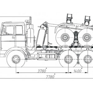 Тягач трубоплетевозный МАЗ 6317X5 (69023B)