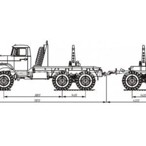 Тягач трубовозный с самопогрузкой труб Урал-55571-1151-60/-70/-72 (59602A)