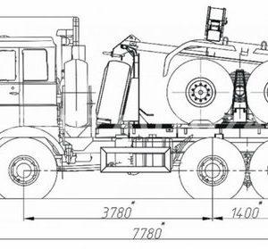 Тягач трубовозный МАЗ 6317X5 (69023A)