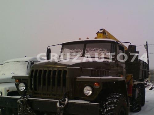 Урал 4320 с бортовой платформой и КМУ