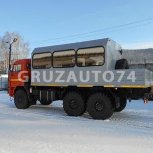 Вахтовый автобус 10 мест на шасси КАМАЗ 43118 с бортовой платформой