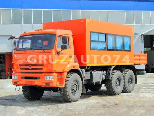Вахтовый автобус 14 мест на шасси КАМАЗ 43118 с бортовой платформой