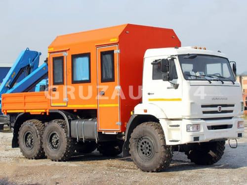 Вахтовый автобус 8 мест на шасси КАМАЗ 43118 с КМУ