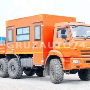 Вахтовый автобус 12 мест на шасси КАМАЗ 43118 с бортовой платформой